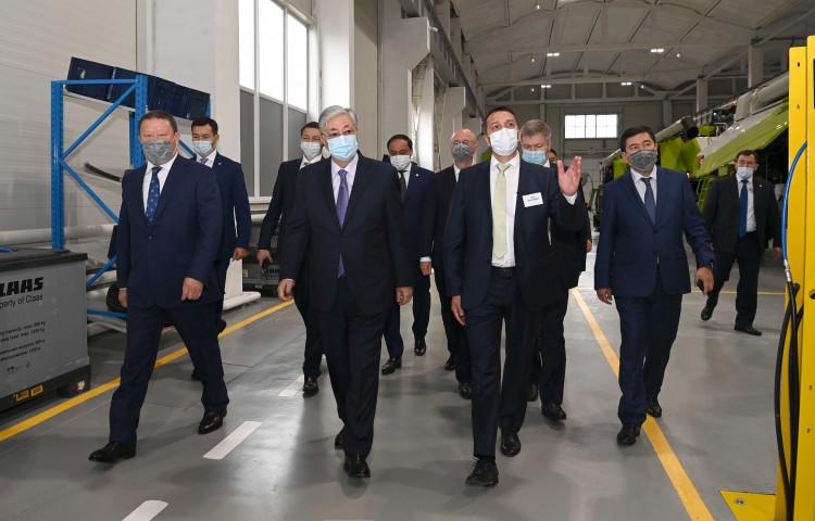 Глава государства посетил завод CLAAS